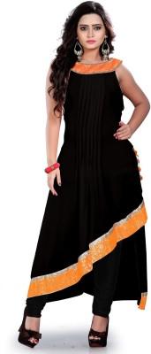 FASHIONUMA Georgette Embroidered Semi-stitched Gown & Salwar Material