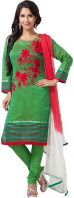Aapno Rajasthan Cotton, Silk Floral Print Semi-stitched Salwar Suit Dupatta Material