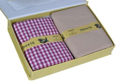 Zenisis By Siyarams Cotton Checkered Shirt & Trouser Fabric