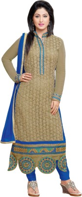 Li Te Ra Net Embroidered Semi-stitched Salwar Suit Dupatta Material