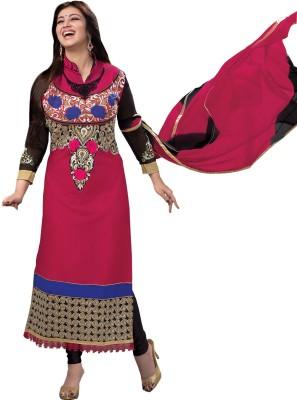 Nandani Fashion Cotton Embroidered Semi-stitched Salwar Suit Dupatta Material