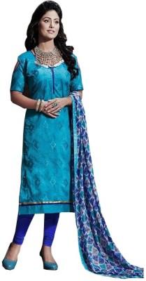 Raagvi Chanderi Embroidered Salwar Suit Dupatta Material