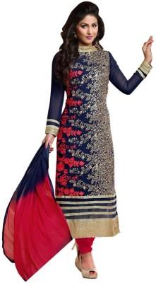 Monika Silk Mill Georgette, Chiffon Self Design, Solid Semi-stitched Salwar Suit Dupatta Material