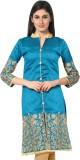 Khoobee Art Silk Embroidered Kurti Fabri...