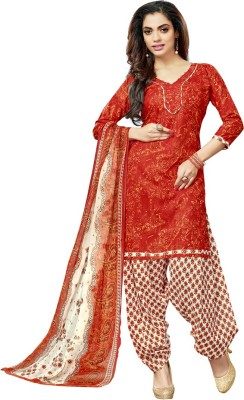 Saara Cotton Floral Print Salwar Suit Dupatta Material(Un-stitched) at flipkart
