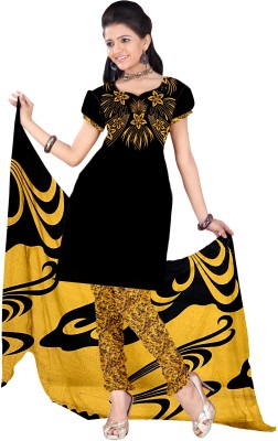 Dress Material Crepe Printed Salwar Suit Dupatta Material