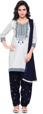 Kvsfab Cotton Embroidered Dress/Top Material(Un-stitched) at flipkart