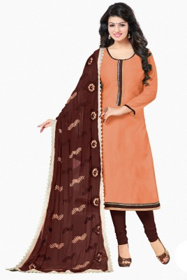 Frenzy Fashion Chanderi Embellished Salwar Suit Dupatta Material