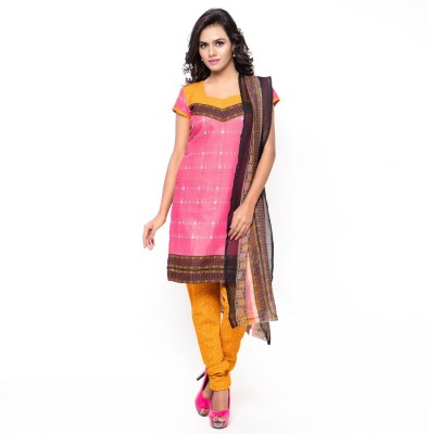 Saara Cotton Printed Salwar Suit Dupatta Material(Un-stitched) at flipkart