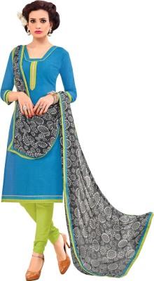 Saara Cotton Solid Salwar Suit Dupatta Material(Un-stitched) at flipkart
