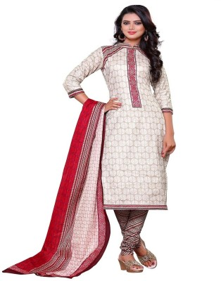 F3 Fashion Cotton Printed Salwar Suit Dupatta Material
