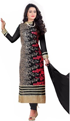 RudraEnterprise15 Georgette Embroidered Semi-stitched Salwar Suit Dupatta Material