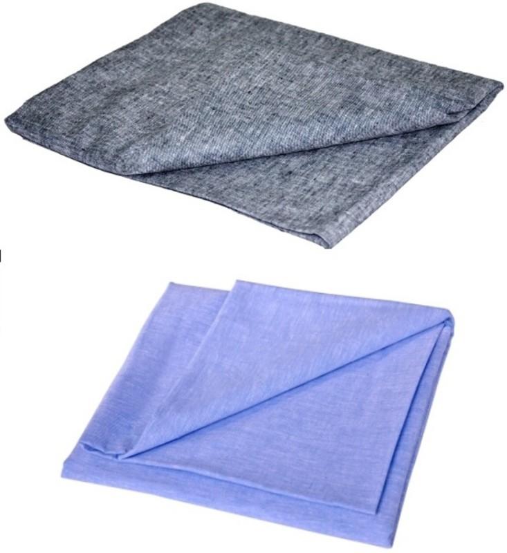 LinenHubb Cotton Linen Blend Solid Shirt Fabric(Un-stitched)