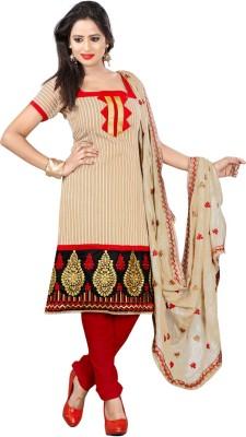 Livaaz Chanderi Striped Salwar Suit Dupatta Material