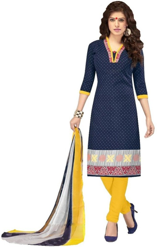 Merito Cotton Self Design, Printed Salwar Suit Material, Salwar Suit Dupatta Material, Suit Fabric(Un-stitched)