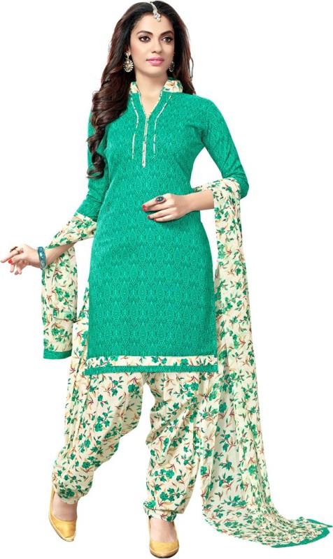 Saara Cotton Floral Print Salwar Suit Dupatta Material(Un-stitched)