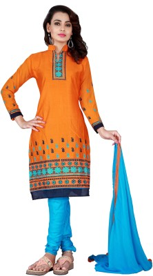 Shonaya Cotton Embroidered Salwar Suit Dupatta Material(Un-stitched) at flipkart