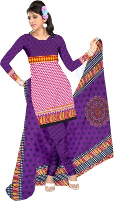 Melluha Fashion Crepe Printed Salwar Suit Dupatta Material