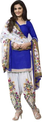 Merito Cotton Printed Salwar Suit Material, Dress/Top Material, Kurta & Patiyala Material, Salwar Suit Dupatta Material(Un-stitched)