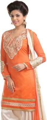 SILVERMOON Salwar Suit Dupatta Material Embroidered Women's Suit
