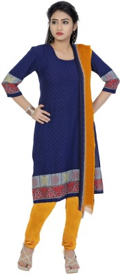 Fashion Valley Synthetic Printed Salwar Suit Dupatta Material(Un-stitched) at flipkart