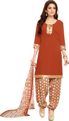 Saara Crepe Printed Salwar Suit Dupatta Material(Un-stitched) at flipkart