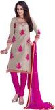 Krizel Trendz Chanderi Embellished Dress...