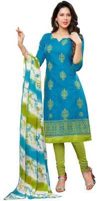 Merito Jacquard Embroidered, Printed Salwar Suit Material, Salwar Suit Dupatta Material(Un-stitched)