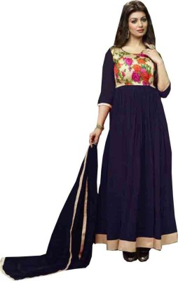 SHS Georgette Embroidered Salwar Suit Dupatta Material