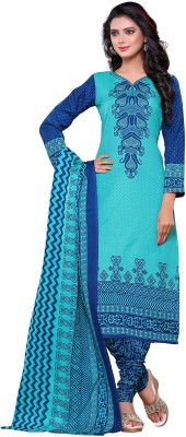 Wedding Villa Cotton Printed Salwar Suit Dupatta Material