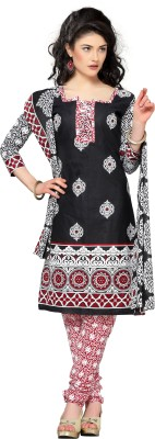 Silkbazar Cotton Polyester Blend Printed Dress/Top Material