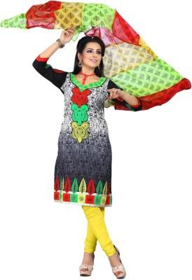 Cenizas Cotton, Georgette Self Design Semi-stitched Salwar Suit Dupatta Material
