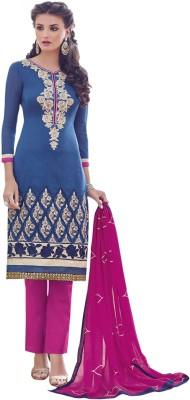 King Sales Chanderi, Cotton, Silk Embroidered Salwar Suit Dupatta Material