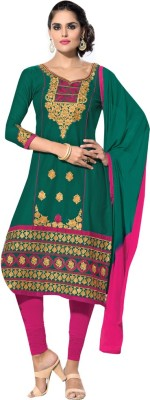 Diva Divine Cotton Embroidered Semi-stitched Salwar Suit Dupatta Material