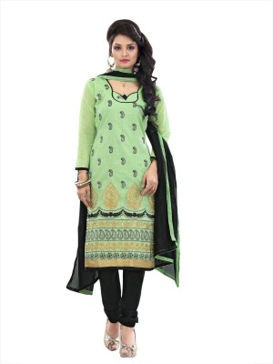 F3 Fashion Georgette Self Design Semi-stitched Salwar Suit Dupatta Material