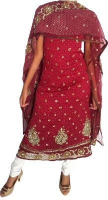 Banjaraindia Crepe Embroidered Salwar Suit Dupatta Material