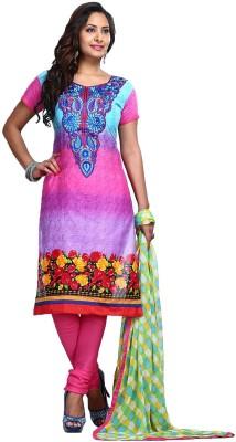 Shah Fabrics Cotton Embroidered Salwar Suit Dupatta Material