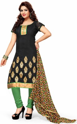 Khushali Chanderi Embroidered Dress/Top Material