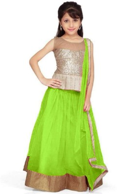 FashionsBazaar Net Self Design Semi-stitched Lehenga Choli Material