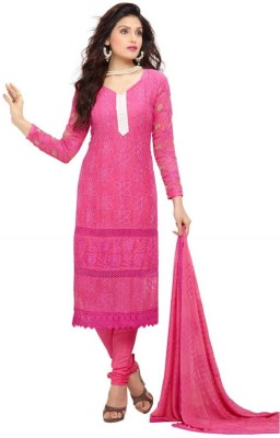 Wedding Villa Georgette Embroidered Salwar Suit Dupatta Material