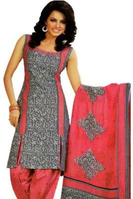 Ladyview Cotton Printed Semi-stitched Salwar Suit Dupatta Material