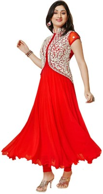 Cute N Classy Georgette Embroidered Dress/Top Material