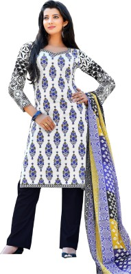 Sunrise International Cotton Embroidered Semi-stitched Salwar Suit Dupatta Material