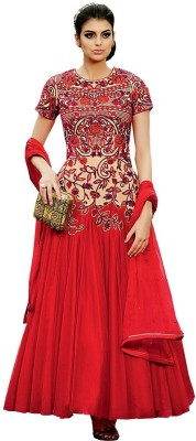 LifeStyle Megamart Georgette Embroidered Salwar Suit Dupatta Material