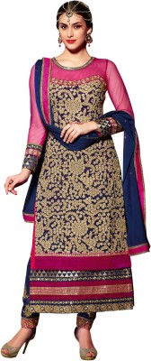 Fashion4masti Georgette Embroidered Semi-stitched Salwar Suit Dupatta Material