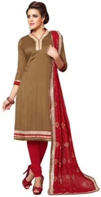 Parishi Fashion Chanderi Self Design Salwar Suit Material