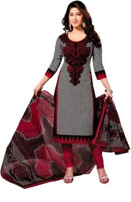 Shopping Queen Crepe Polka Print Salwar Suit Material