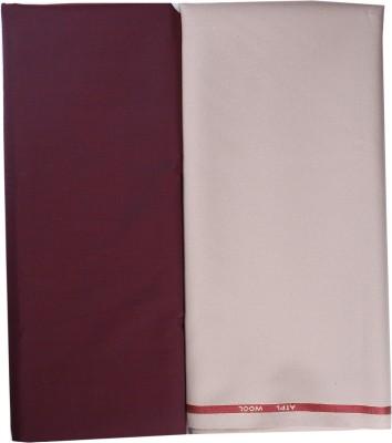 OCM Cotton Polyester Blend Solid Shirt Fabric, Trouser Fabric