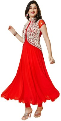 Suitevilla Georgette Embroidered Dress/Top Material