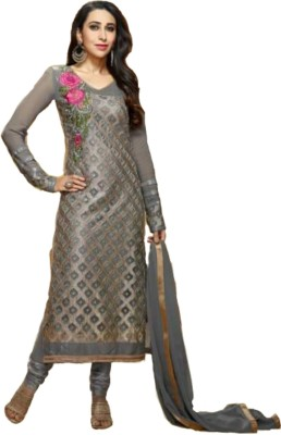 Trendin Stylers Georgette Embroidered Semi-stitched Salwar Suit Dupatta Material